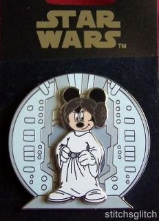 minnie mouse as star wars princess leia disney pin time