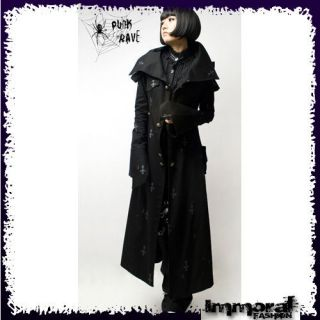 PUNK RAVE GOTHIC PRIEST TRENCH COAT   PUNK/GOTHIC/BL​ACK/JACKET
