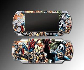 Spider Man Video Mutant Avengers Hulk Game SKIN Cover #3 Sony PSP 1000