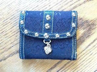 kathy van zeeland black trifold wallet