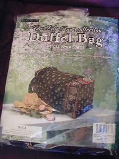 Newly listed Quilted Tote * Duffle Bags * Pattern * kit * complete kit