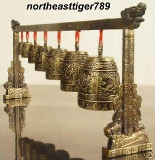 chinese feng shui bronze dragon poem serial bells from china