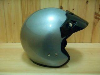 afx john deere offroad atv helmet open face silver xl