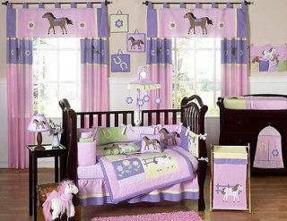 Newly listed PINK PURPLE PONY WESTERN HORSE BABY GIRL CRIB BEDDING SET