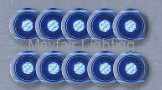 10 x 30mm Saxby Blue Round LED Light Kit Kitchen Plinths Outdoor
