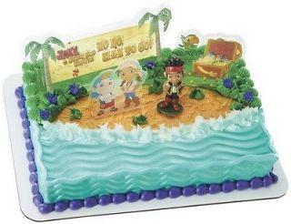 Neverland PIRATES Yo Ho Birthday PARTY Cake DECORATION Topper KIT Set