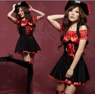 Sexy Lady Pirate Costumes Pole Dancing Uniforms Cosplay Dress