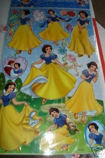 nip snow white disney princess stickers party supplies time left