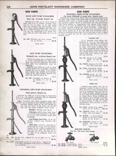 1928 AD Windmill Water Well Force Pumps Standards