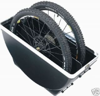 wheel bike hard plastic travel case dual safe shell airline travel