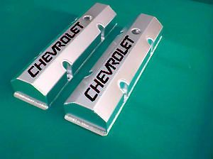 SBC Small Block Chevy Tall Fabricated Valve Covers Sheet Metal