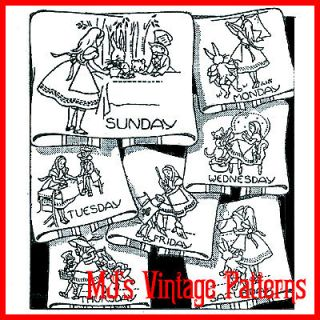vintage embroidery pattern alice in wonderland time left $ 7