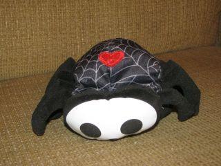 Black Spider Web Heart Timmy Stuffed Animal Plush Bean Bag