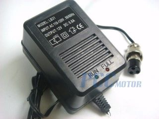 battery Charger 3 Prongs Female for Gas Scooter ATV Pocket Bike BC00