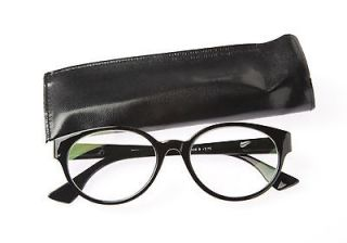 Dual Power Computer Reading Glasses Tortoise Shell Frame Round