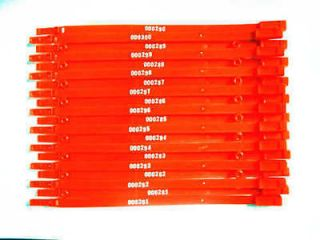 25pcs New RED Plastic Security Seal container truck seal 7*206mm