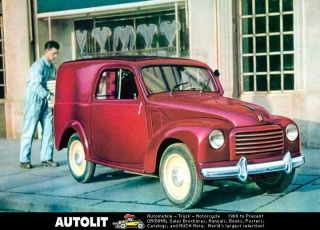 1952 fiat 500c topolino van factory photo