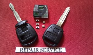 toyota yaris 2 3 button remote key fob repair service