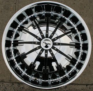 GWG GENESIS G25 24 CHROME RIMS WHEELS GMC ENVOY 6x127 RAINIER