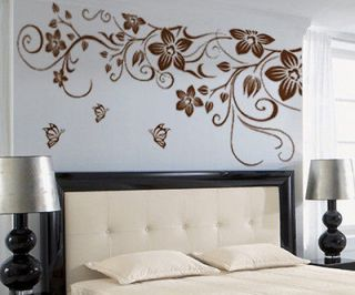Newly listed AA Vine Flower Butterfly Removable PVC Wall Sticker Home