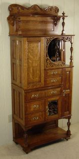 antique oak ransom randolph dental cabinet 75