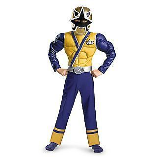 Sabans Power Rangers Samurai Deluxe Muscle Chest Gold Ranger Costume