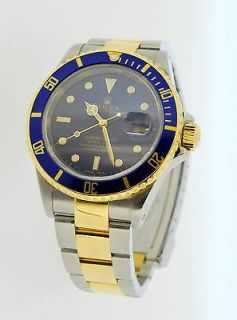 rolex submariner 2002 blue dial two tone one day shipping