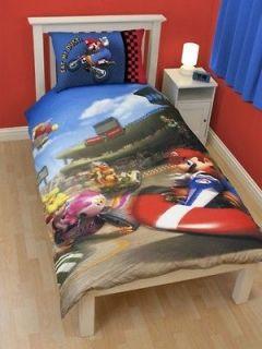 Mario Kart Race Reversible Single Bed Duvet Quilt Cover Set New