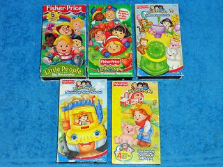 LOT OF 5 FISHER PRICE LITTLE PEOPLE VIDEOS   VHS   CHRISTMAS