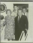 1974 President Richard Nixon and family step off Air Force One Wire