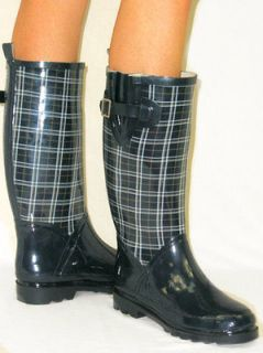 Flat GALOSHES WELLIES RUBBER RAIN Boot Riding Hunter Style ALL SIZES