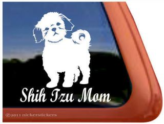 SHIH TZU MOM ~ High Quality Shih Tzu Dog Window Decal Sticker