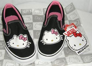 VANS Hello Kitty SNEAKERS SLIP ON BLACK US 5.5  CHRISTMAS