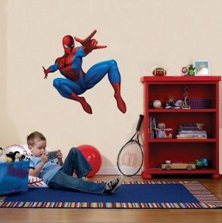 HUGE SPIDERMAN Decal Removable Repostionable WALL STICKER Appliques