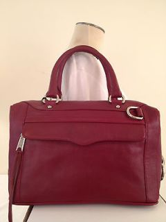 NWT REBECCA MINKOFF MAB MINI MORNING AFTER BAG SATCHEL WINE LEATHER