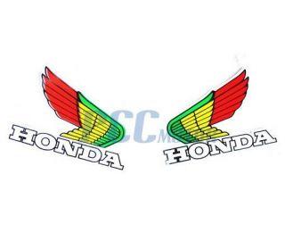 HONDA Wings Decal Sticker ATV Motocross Buggy Bike TRX CRF V DE47