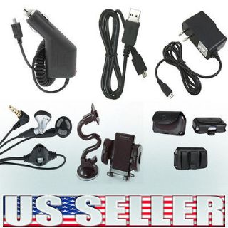 6in1 Car+Home Charger+Case+USB+ Headset+Holder For Sharp FX Plus
