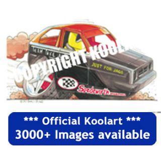 Koolart Reliant Robin Stock Car Fridge Magnet personalised gift