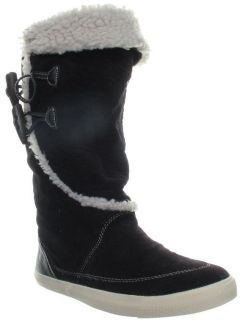 Rocket Dog Womens Tansy Black Winter Corduroy Casual Calf Boots Shoes
