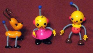 Rolie Polie Zowie Olie Spot Dog Robot Figures Bendables Disney 5 1/2