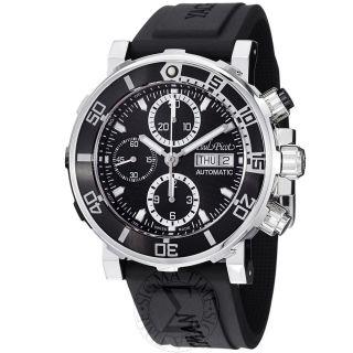 Paul Picot Mens Yachtman Black Dial Chronograph Automatic Watch