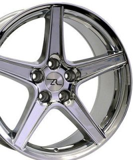 18 x9 inch Chrome Mustang ® Wheels fit Saleen 18 1994   2004 Rims