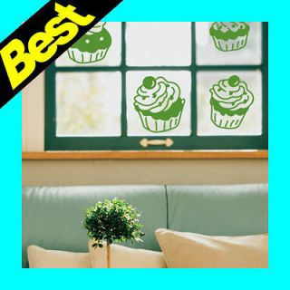 cup cake window wall decals home decor vinyl stickers more