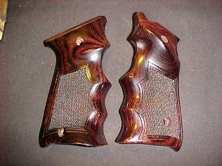 Ruger Mark Mk II ONLY Rosewood Fingergroove Target Pistol Grips