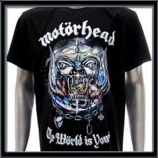 sz l motorhead t shirt vtg retro rock metal biker rider