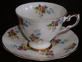 Royal Standard Bone China, England Footed Cup & Saucer Spring Wild