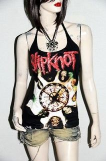 slipknot metal rock diy sexy halter tank top shirt