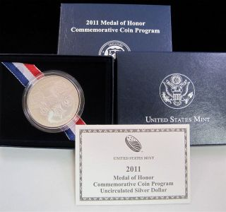 2011 S Medal of Honor Uncirculated Silver Dollar Commemorative Coin