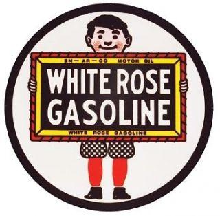 WHITE ROSE OIL GAS GASOLINE Vintage Style Metal LARGE 25.5 Garage