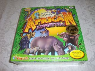 african adventure board game playzzle bilingual new